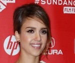 Jessica Alba in Black and White at the Sundance A.C.O.D. Premiere