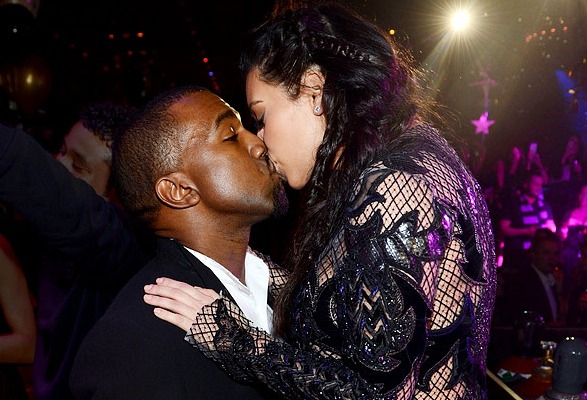 Kim Kardashian and Kanye West, New Year's Eve 2013