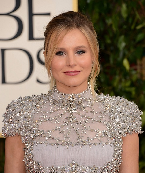 Pregnant Kristen Bell at the 2013 Golden Globes