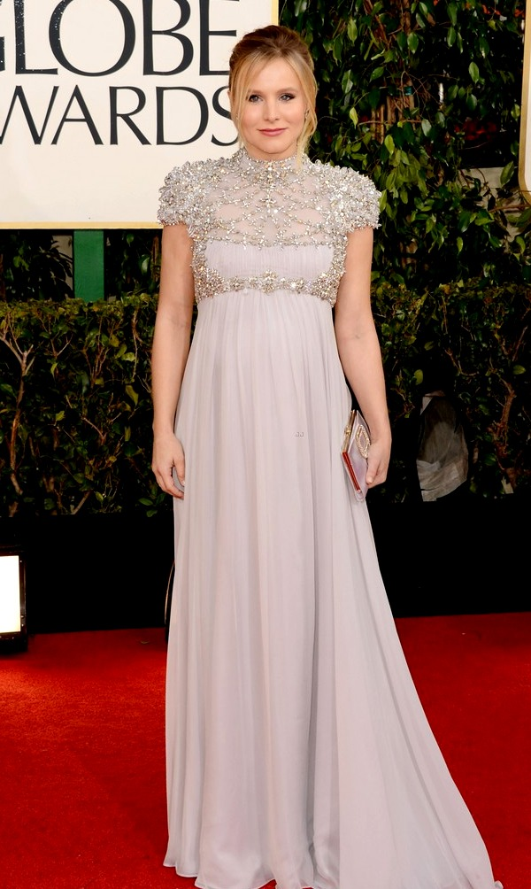 Pregnant Kristen Bell at the 2013 Golden Globes