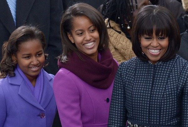 Inauguration 2013: Michelle Obama with Daughters Sasha and Malia