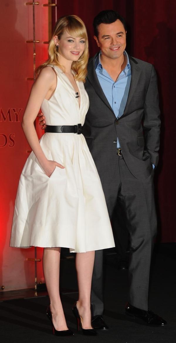 Seth MacFarlane and Emma Stone, Oscar Nominations
