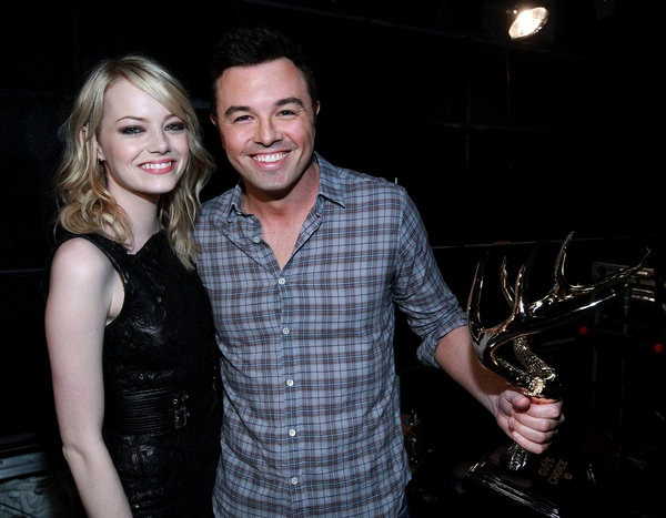 Seth MacFarlane and Emma Stone