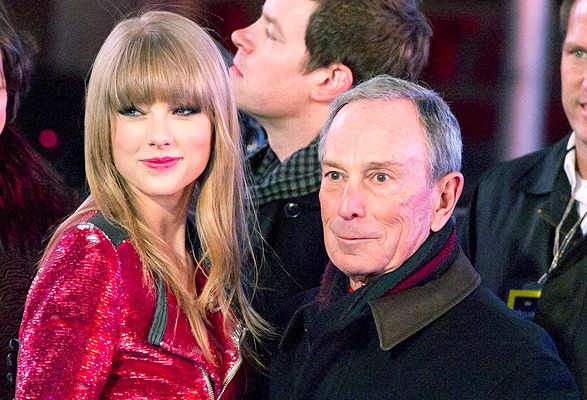 Taylor Swift and Mike Bloomberg, New Year's Eve 2013