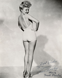 Betty Grable Pin up poster