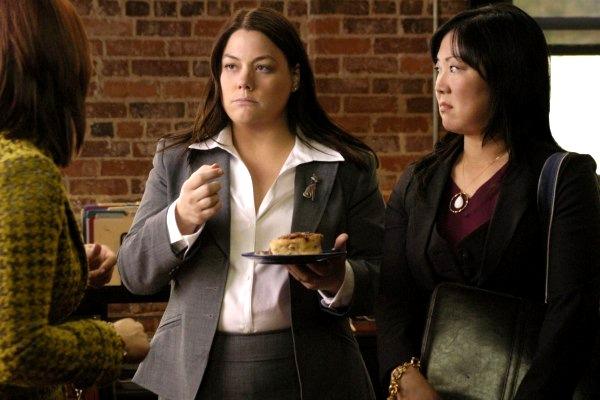 Brooke Elliott and Margaret Cho of Lifetime's Drop Dead Diva