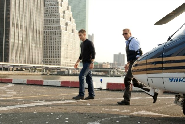 Kevin Costner and Chris Pine in Jack Ryan