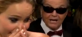 Oscars 2013: Jennifer Lawrence and Jack Nicholson