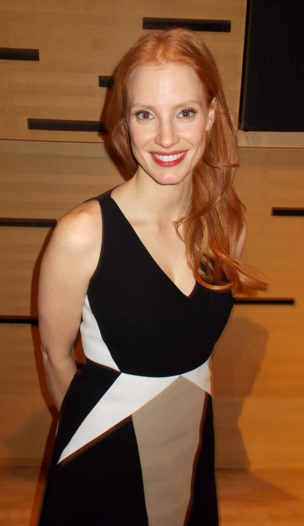 Jessica Chastain at Lincoln Center, Feb. 8, 2013