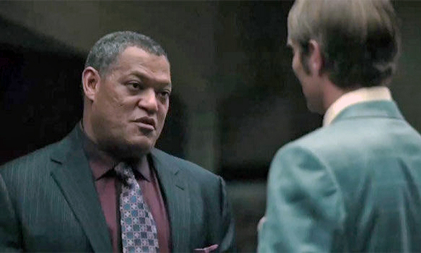 "Laurence Fishburne and Mads Mikkelsen in ""Hannibal"""