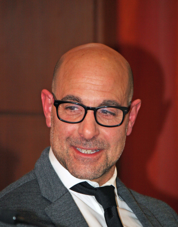"Stanley Tucci at the New York press conference for ""The Company You Keep"" 