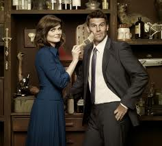 "Emily Deschanel and David Boreanaz of ""Bones"""