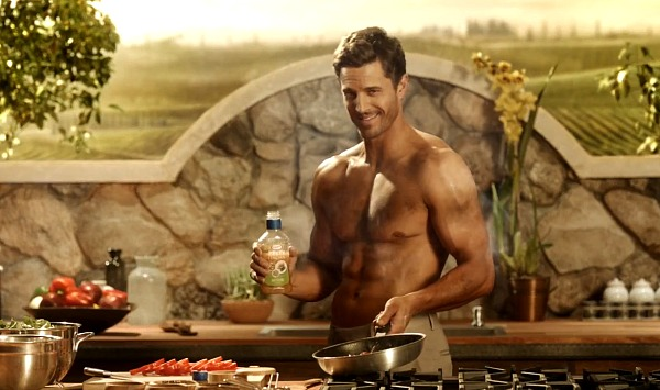 Kraft Dressing Ad: Shirtless Guy