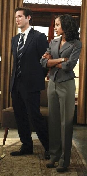 Henry Ian Cusick and Kerry Washington in Scandal | ABC
