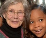 Oscar Nominees Quvenzhané Wallis and Emmanuelle Riva Pose for a Photo