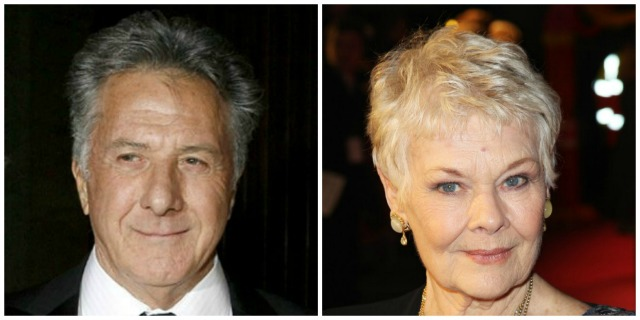 Dustin Hoffman and Judi Dench
