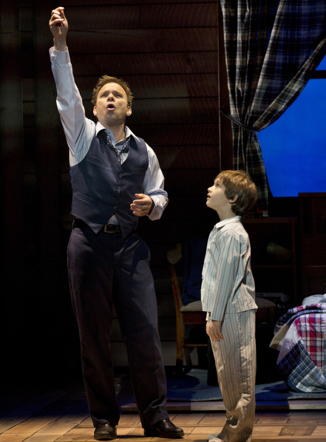 "Norbert Leo Butz and Zachary Unger in ""Big Fish"""