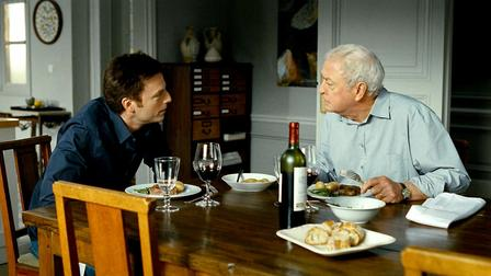"Justin Kirk and Michael Caine in ""Last Love"" 
