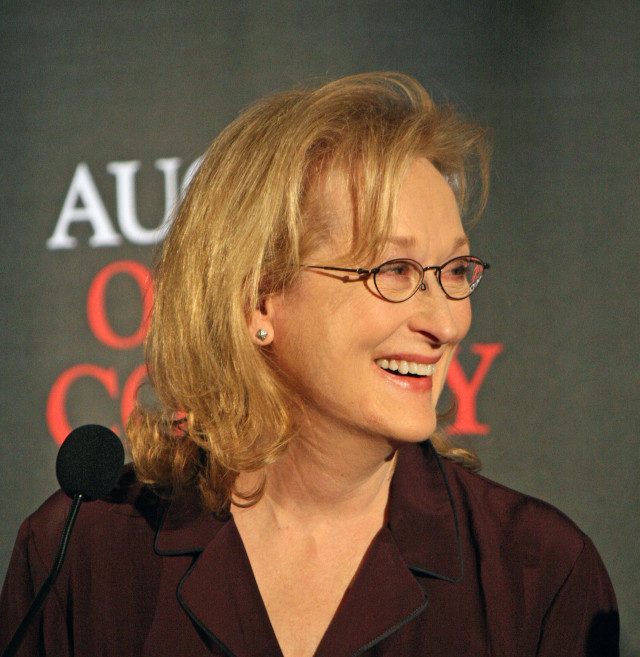"Meryl Streep at the ""August: Osage County ""press conference 