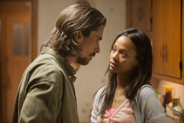 "Christian Bale and Zoe Saldana in ""Out of the Furnace"" 