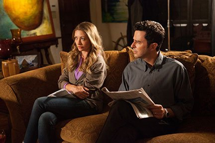 "Rebecca Gayheart and Jonathan Silverman in ""G.B.F."""