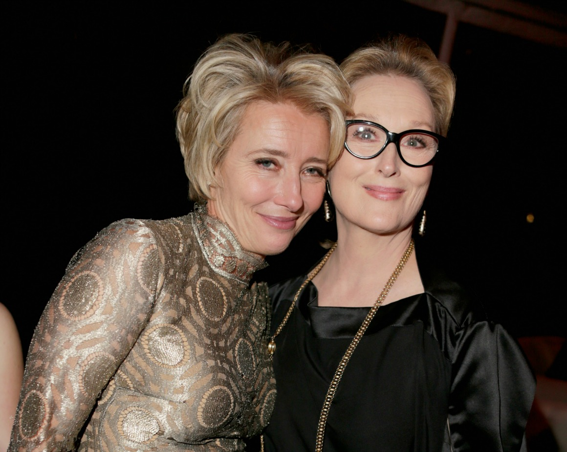 Emma Thompson and Meryl Streep at The Weinstein Company's Golden Globes After-Party | Getty