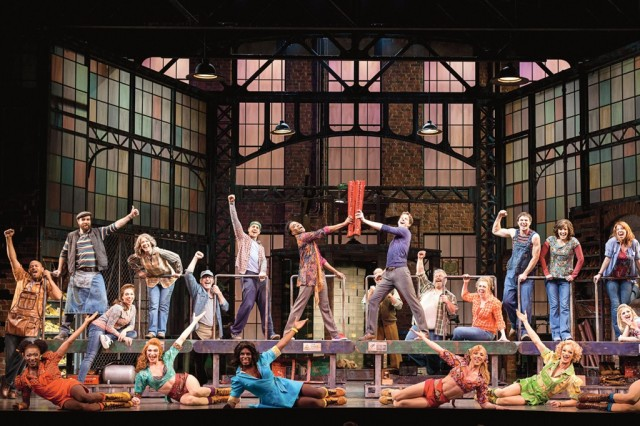"The cast of ""Kinky Boots,"" the 2013 Tony Award winner for Best Musical"