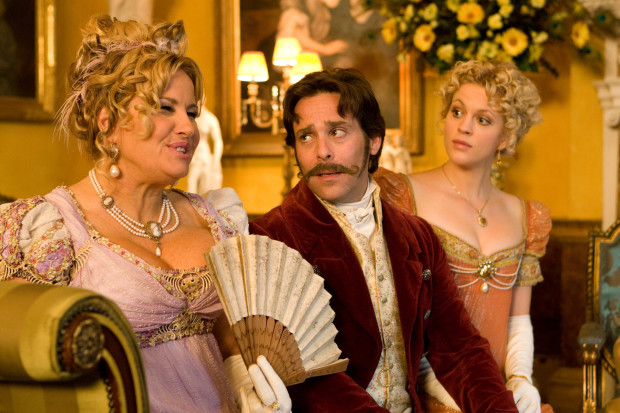 Jennifer Coolidge, James Callis, and Georgia King (Sony Pictures Entertainment)