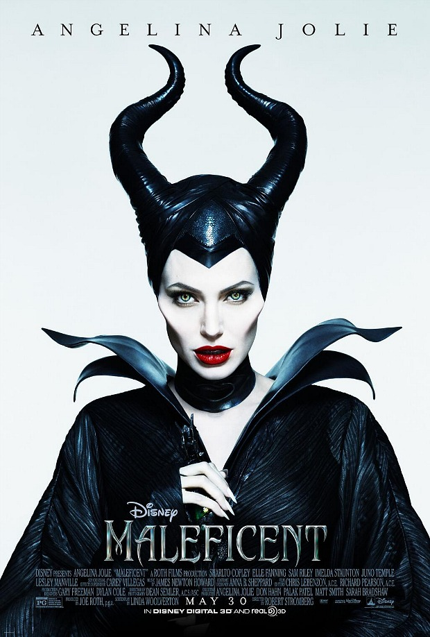 Angelina Jolie Sports Horns in Maleficent Poster - Reel ...