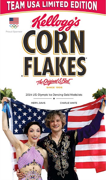 Charlie and Meryl Corn Flakes Box