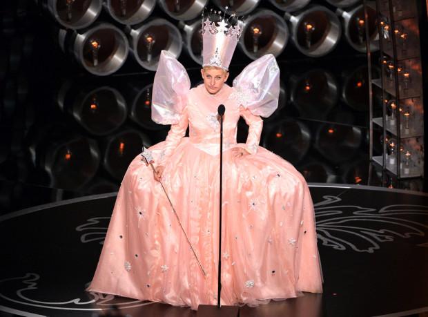 Oscars 2014 Ellen as Glinda