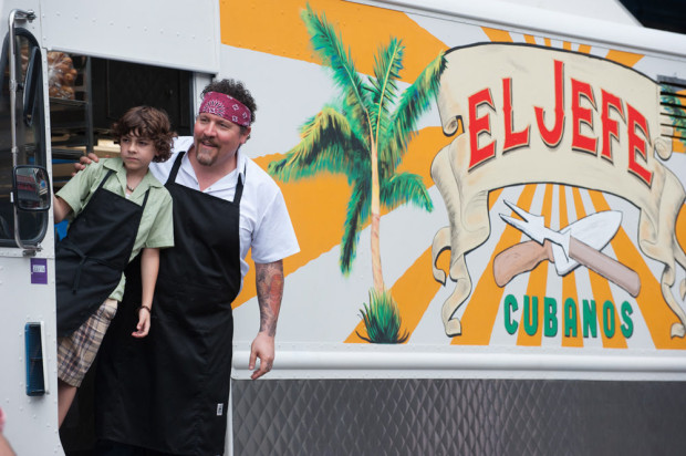 "Emjay Anthony and Jon Favreau in ""Chef"""