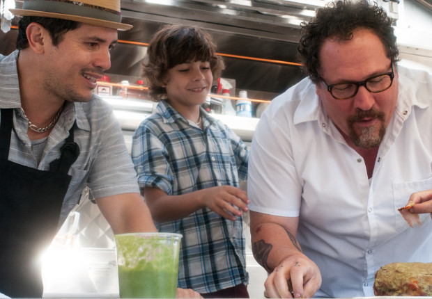 "John Leguizamo, Emjay Anthony, and Jon Favreau in ""Chef"""