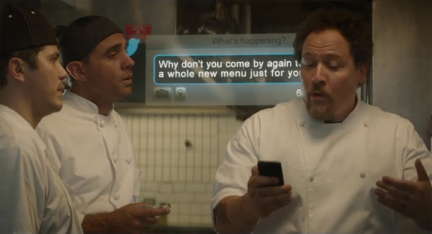 "John Leguizamo, Bobby Cannavale, and Jon Favreau (and Twitter?) in ""Chef"""