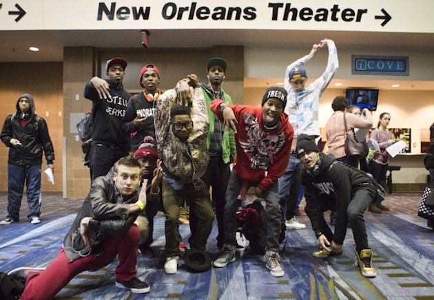 Contestants at the New Orleans auditions.