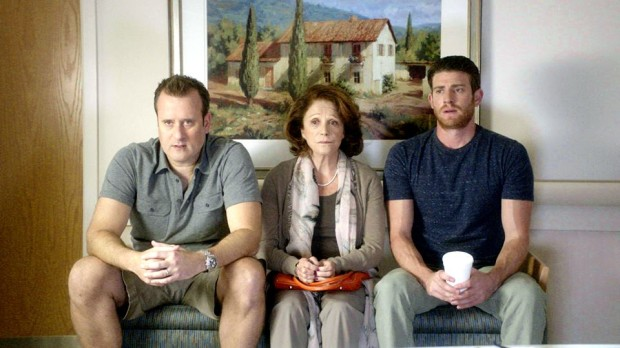 "A still from ""A Short History of Decay"" with Benjamin King, Linda Lavin, and Bryan Greenberg"
