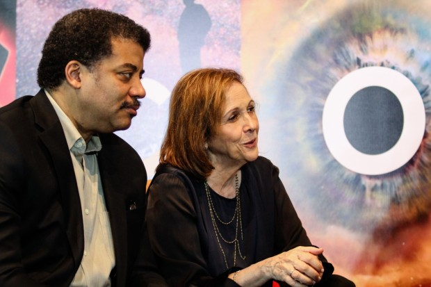 "Neil deGrasse Tyson and Ann Druyan of ""Cosmos"""