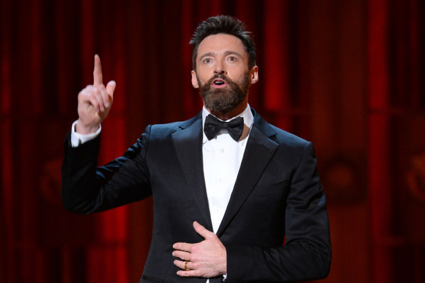 Hugh Jackman hosts the 68th Annual Tony Awards at Radio City Music Hall on June 8, 2014 | Theo Wargo/Getty Images for Tony Awards Productions Photo