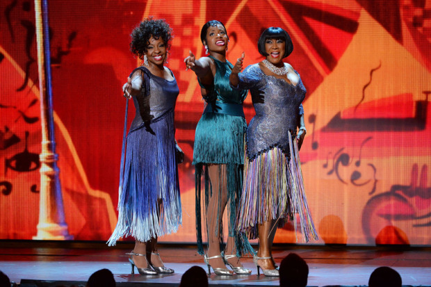 Gladys Knight, Fantasia Barrino and Patti Labelle perform onstage during the 68th Annual Tony Awards at Radio City Music Hall on June 8, 2014 | Theo Wargo/Getty Images for Tony Awards Productions Photo