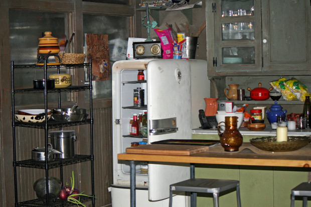 Peter Romancek's humble kitchen is in stark contrast to Roman's | Melanie Votaw Photo