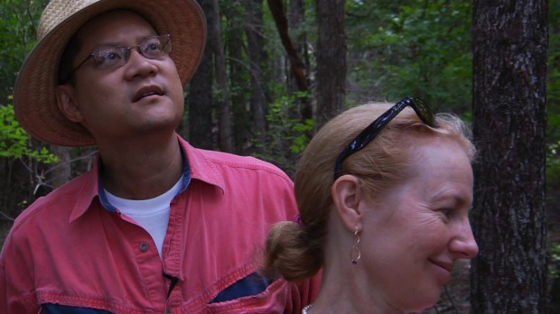 "Clark Wang and his wife in a still from ""A Will For the Woods"""