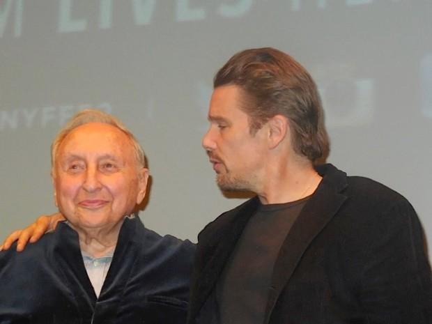 Seymour Bernstein and Ethan Hawke | Paula Schwartz Photo