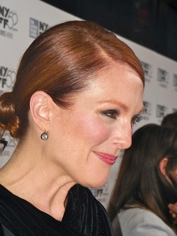 "Julianne Moore on the red carpet at the NYFF screening of ""Maps to the Stars"" 