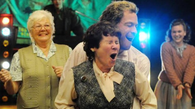 "Menna Trussler, Dominic West, and Imelda Staunton in ""Pride"" 