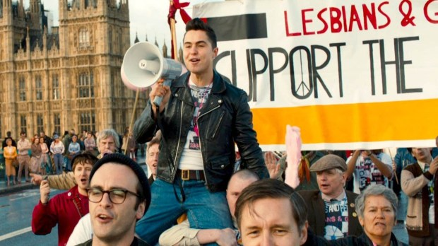 "Ben Schnetzer and the cast of ""Pride"" 