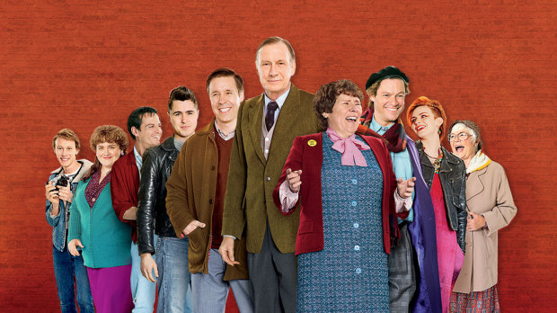 "Ben Schnetzer, Paddy, Bill Nighy, Imelda Staunton, Dominic West, in ""Pride"" 