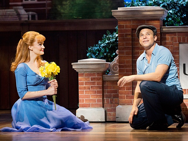 "Norbert Leo Butz with Kate Baldwin in ""Big Fish"" on Broadway"