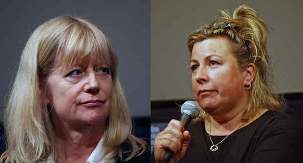 Ruth Sheen (Sarah Danby) and Sandy Foster (Eveline) at the 2014 New York Film Festival | Melanie Votaw Photo