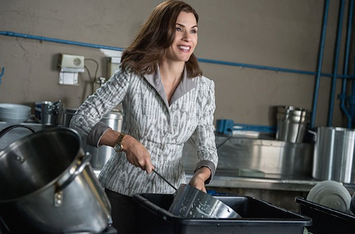 Alicia washing post, The Good Wife