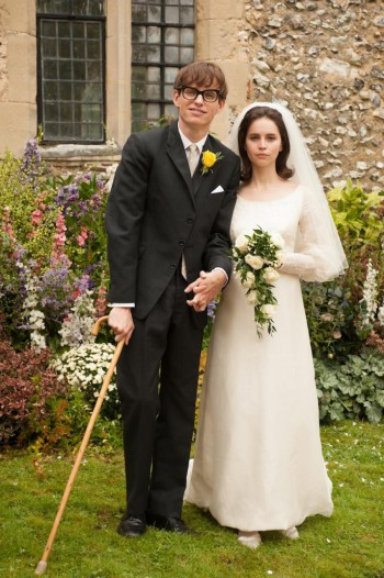 "Eddie Redmayne and Felicity Jones as Stephen and Jane Hawking in ""The Theory of Everything"" 